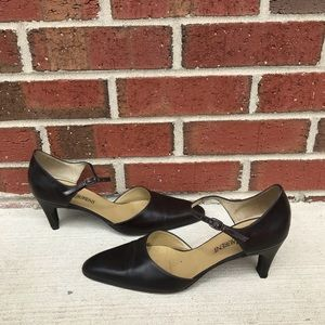 Yves Saint Laurent Dark Brown Leather Heels 7.5M